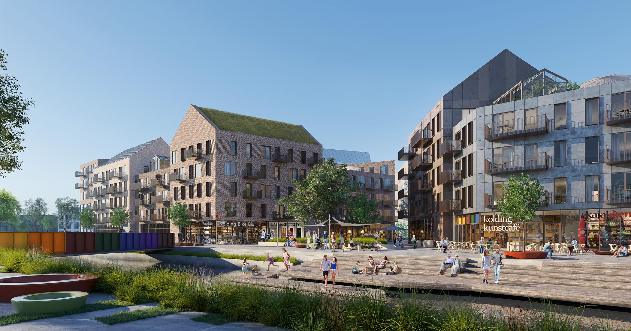 Åkvarteret er Koldings nye midtbykvarter