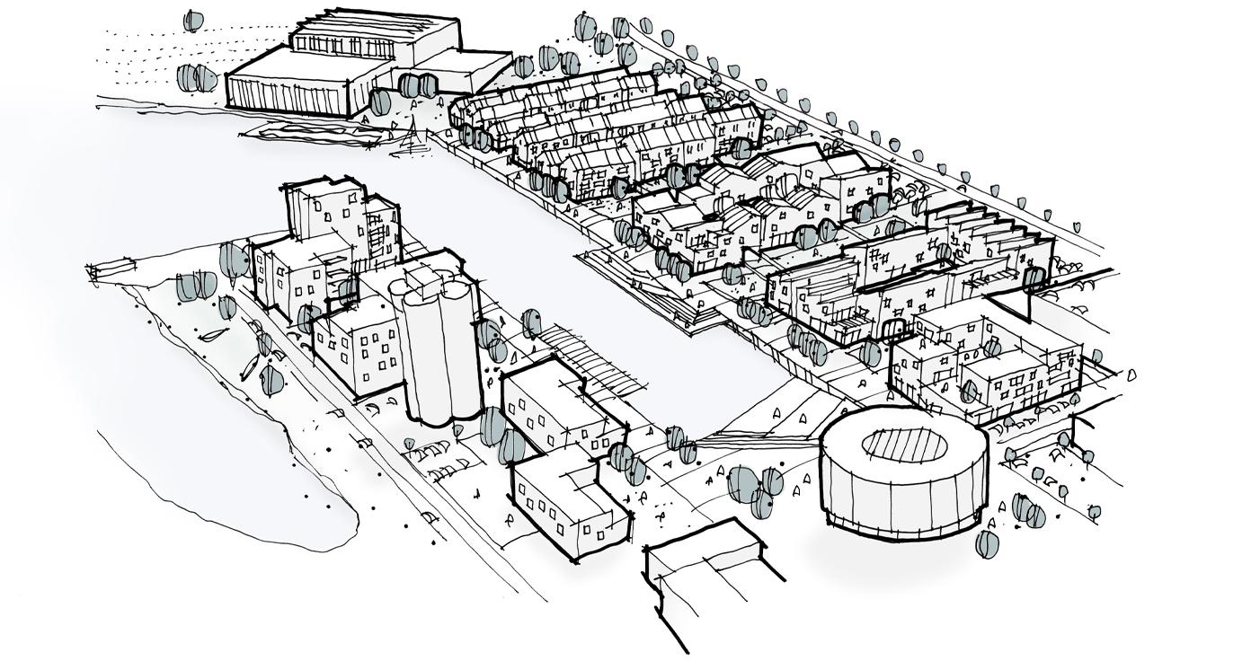 Fra erhvervshavn til blandet by i Næstved